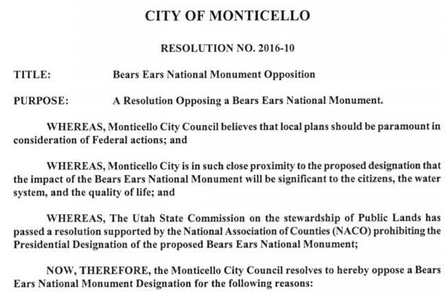 Monticello Resolution