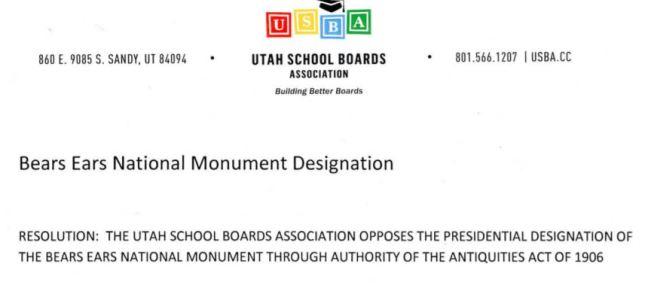 Utah School Boards Resolution