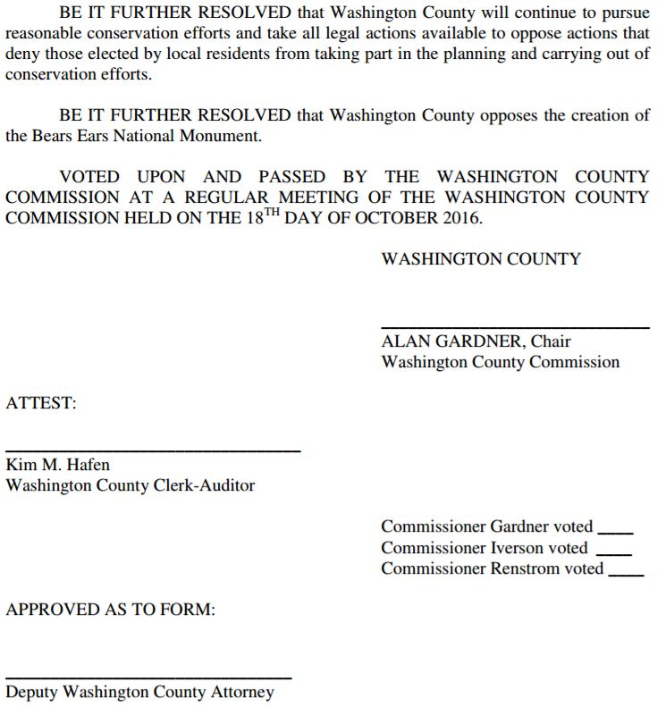 Washington County Resolution