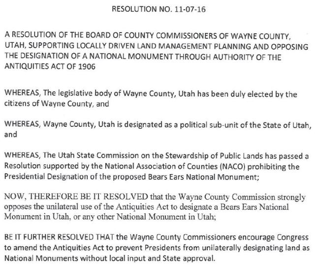 Wayne County Resolution
